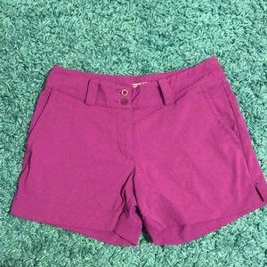 Purple golf shorts